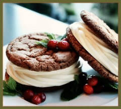 Molasses ginger cookie ice cream sandwiches