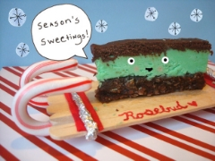 Peppermint Nanaimo bars