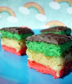 Rainbow Italian flag cookies