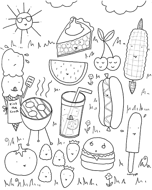 Coloring Book Pages for Grown-ups: Free Download! — CakeSpy