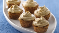 Carrot cupcakes with molasses buttercream