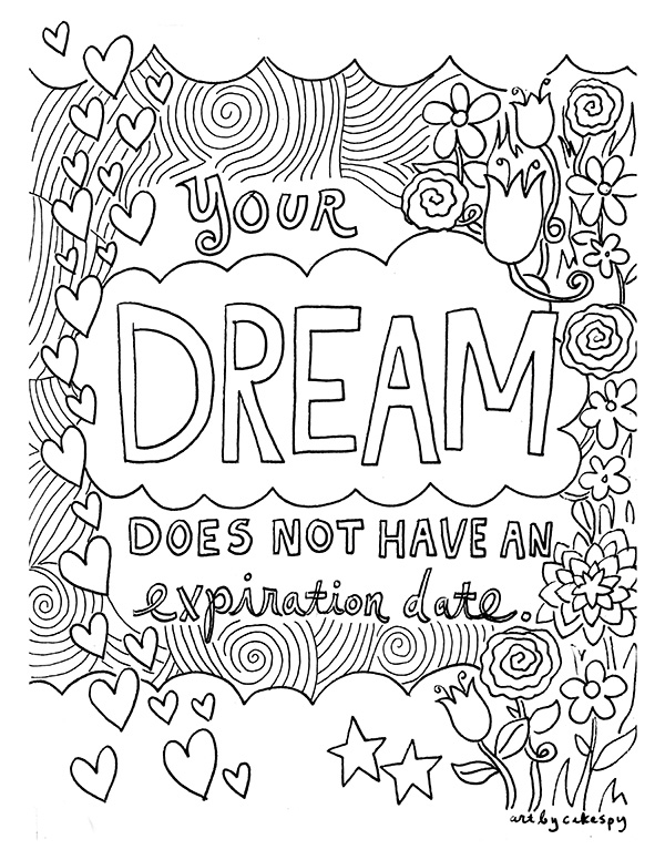 Free Coloring Book Pages: Inspirational Quotes — Jessie Unicorn Moore
