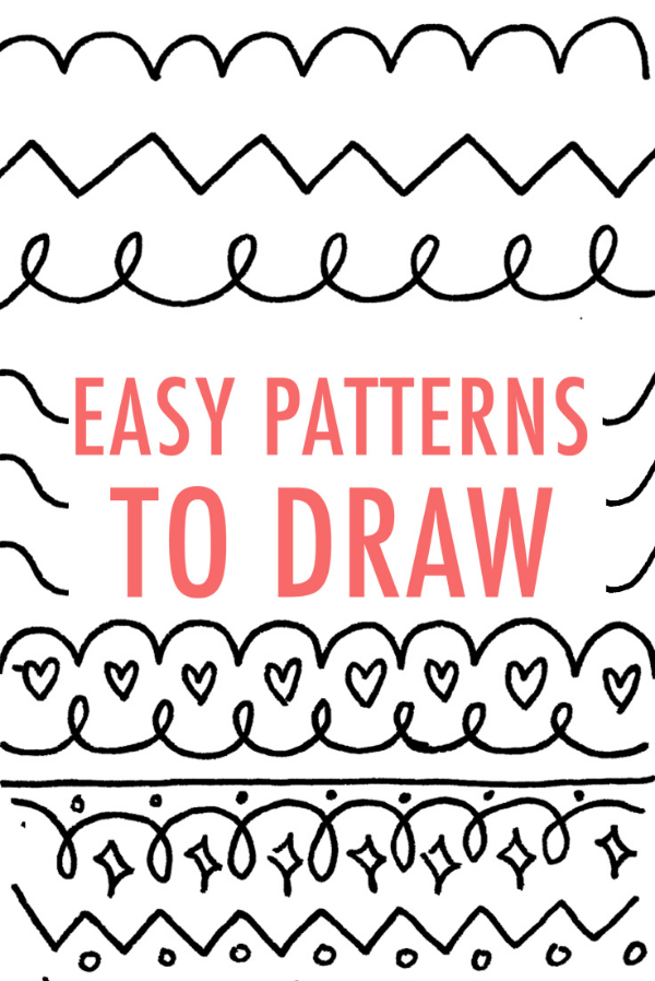 Easy Patterns To Draw Unicorn Love Fascinating Easy Patterns To Draw