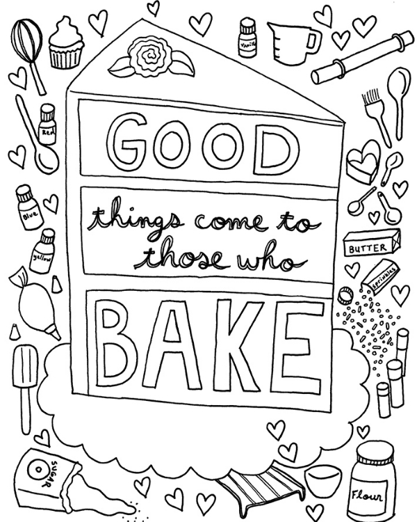 Two FREE Coloring Book Page Downloads! — CakeSpy