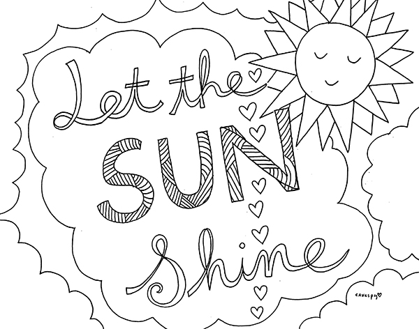 Free Coloring Book Page Download Pictured Above Craftsy