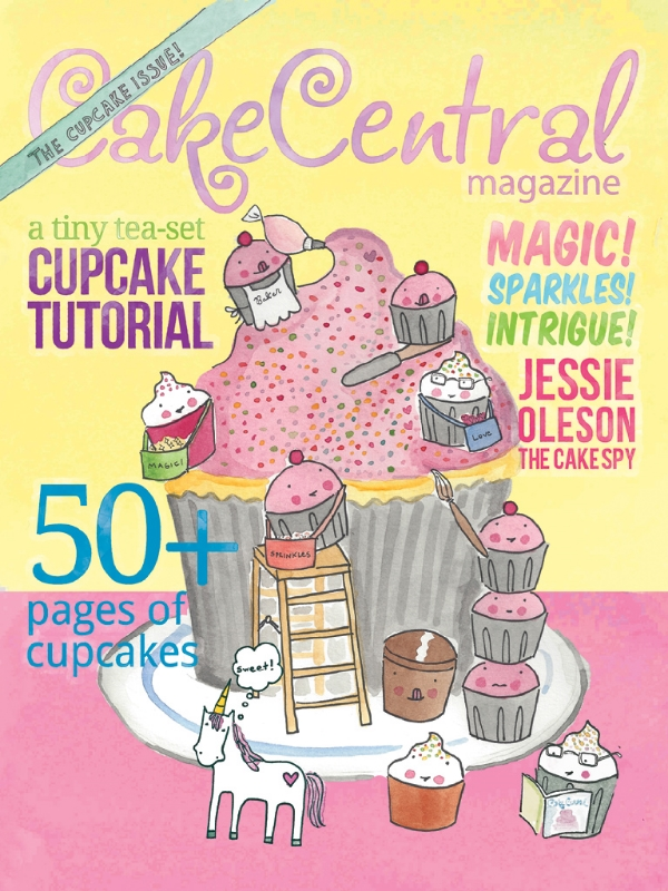 Memories: remember when I did the cover image for Cake Central Magazine?