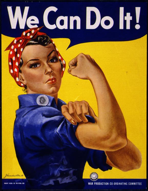 """Rosie the Riveter"" plakatas (norspozavo visai ne ji)"