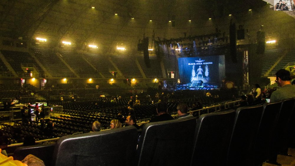 Fans begin to file in prior to Black Star Riders' opening set while supporting Judas Priest and Saxon on Tuesday during the final night of their North American tour at Freeman Coliseum.