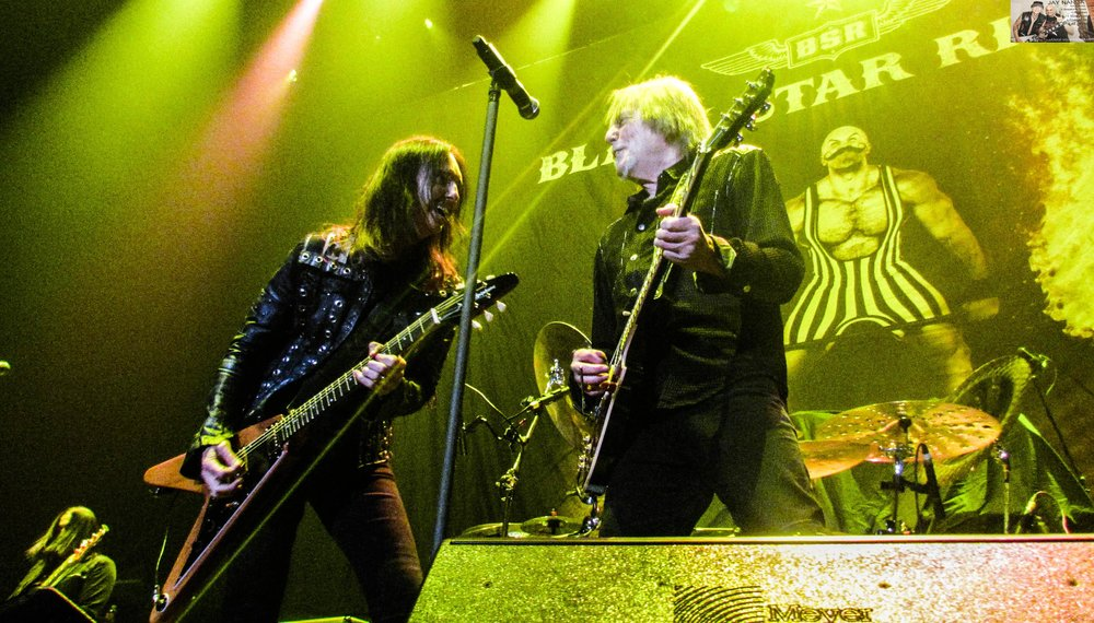 Damon Johnson (left) and Scott Gorham, who has been Thin Lizzy's guitarist since 1974 until the band morphed into Black Star Riders in 2012, handle the axes.