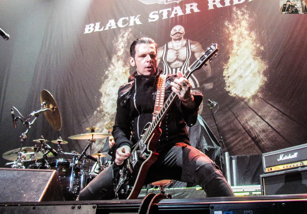 """Singer/guitarist Ricky Warwick, a native of Belfast, Northern Ireland, who's the only non-American member of the band, gets down and groovy on opening track """"All Hell Breaks Loose."""""""