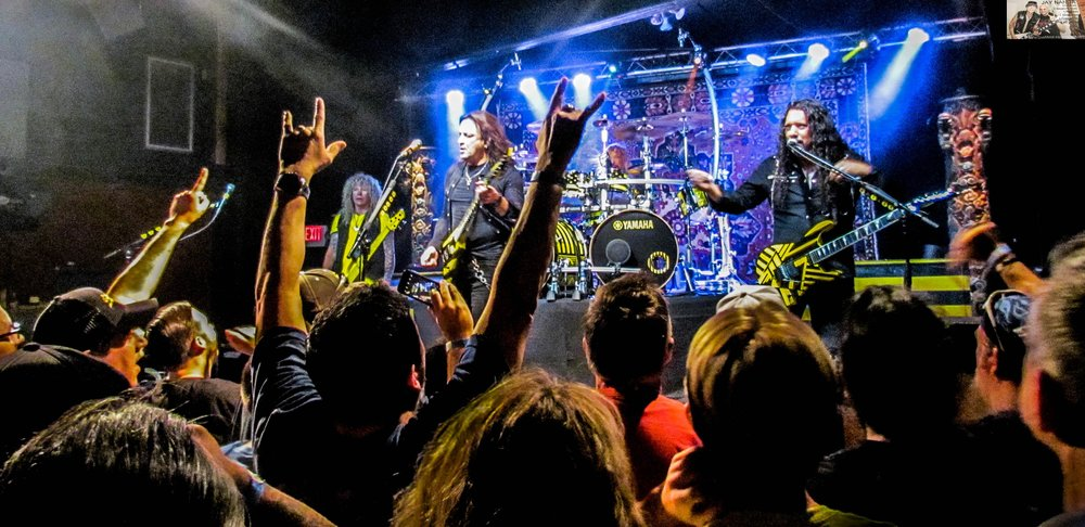 The crazies up front show their appreciation for the Christian metal group that's celebrating 35 years of music.