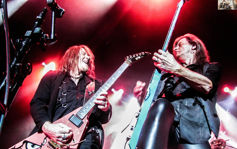 Hansen (left), who departed Weikath and the rest of the group in 1988 and eventually formed Gamma Ray, has gone on record as saying he was the main architect behind having the pumpkins unite.