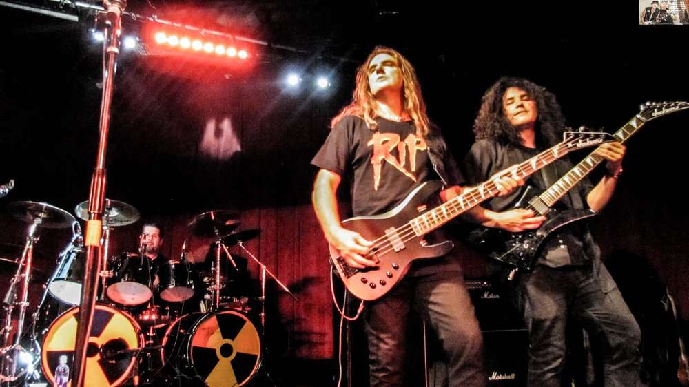 Ellefson jams with Rust In Peace guitarist Mario Prz Jr., and drummer Miguel Morales.