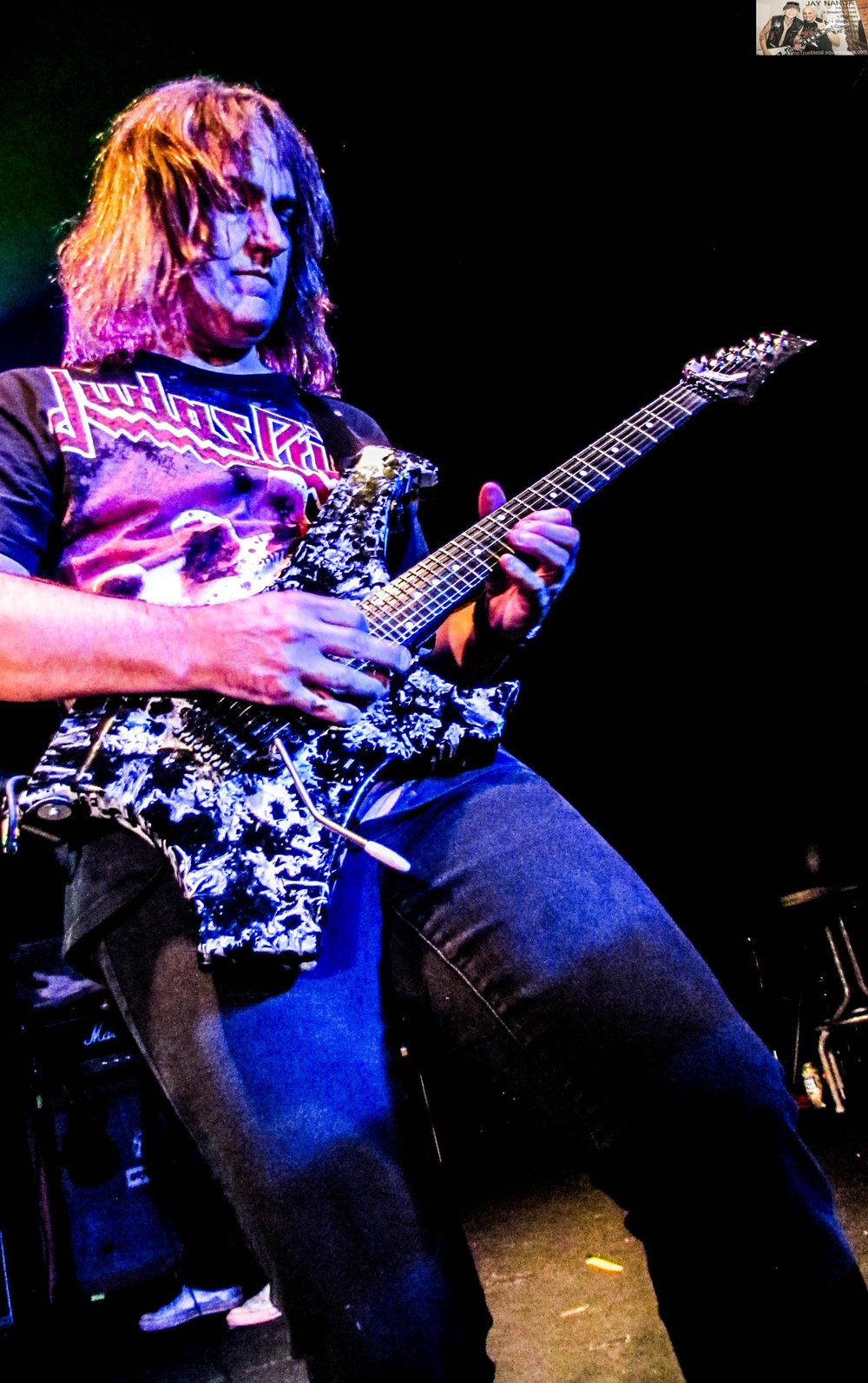 Ron Jarzombek cranks out a tune from one of his bands Watchtower.