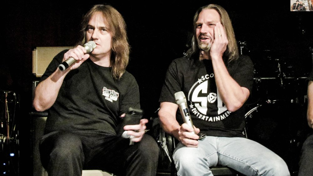 The Jarzombek brothers, guitarist Ron and drummer Bobby, take part in the panel.