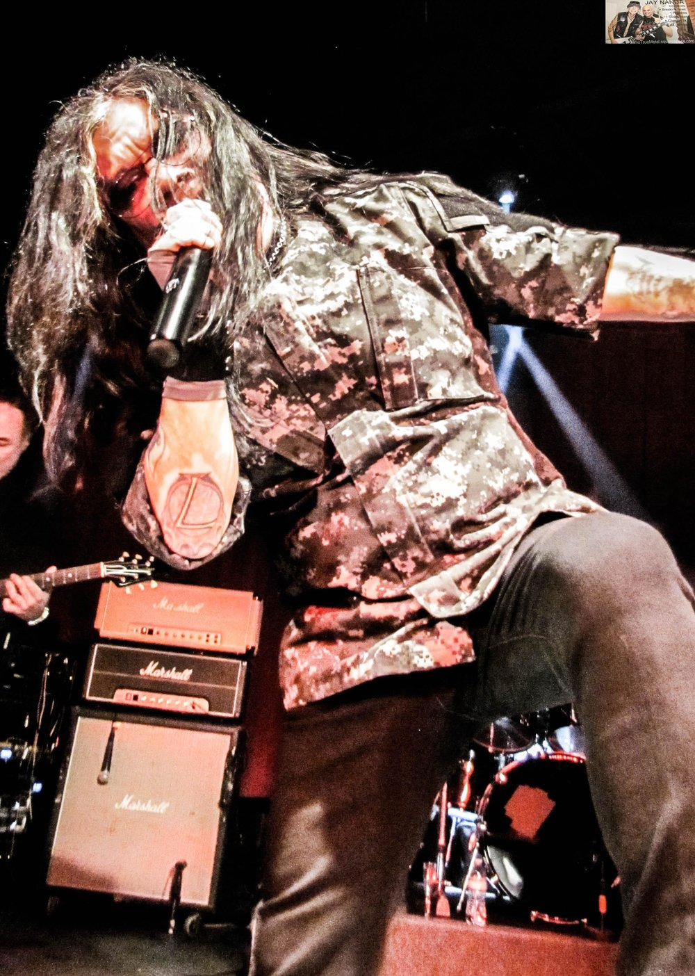 """Rivera performs """"Remnants of War"""" from his Houston band Helstar."""