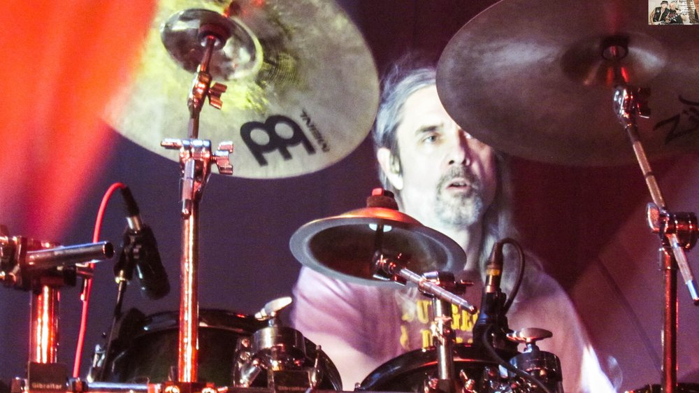 Alexander played the second half of the 95-minute set on drums.