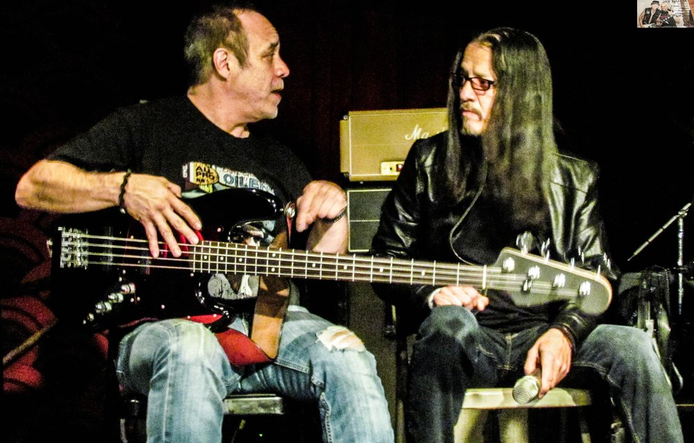 Villareal engages in conversation with bassist Pete Perez, who played in Riot, Syrus and rounded out the Jarzombeks' trio known as Spastic Ink.