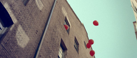 Balloons escaping out the window - Vodafone Like a Child Television commercial