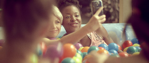 girl party in a poll of balls - Vodafone Like a Child Television commercial