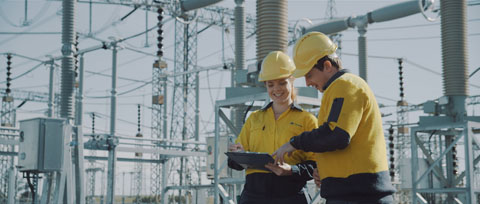 Transgrid staff checking the network - Transgrid Make It Happen, Staff Recruitment Video ProductionVideo prduction, Australian Cinematography Award winning project