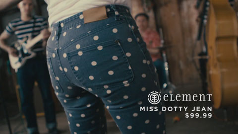 Element dotty jeans - SDS Till Death Do US Part Film Production - DP Toby Heslop