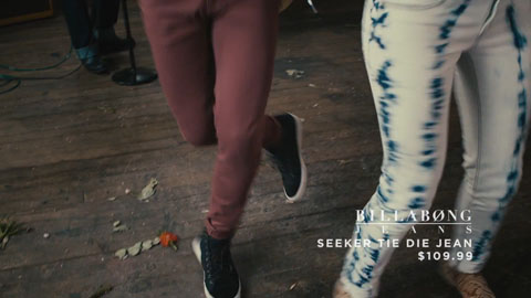 Billabong seeker tie die jeans - SDS Till Death Do US Part Film Production - DP Toby Heslop