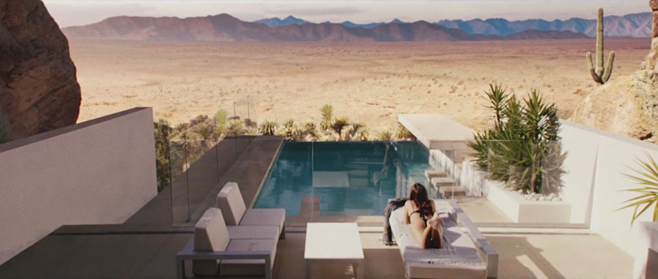 Sunbaking overlooking the desert view - MX Margarita Quench This Thirst Film Production, DoP Toby heslop