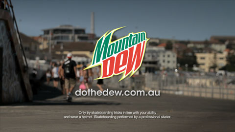 Do the dew end frame - Mountain Dew My Office Video advertising production - DOP / Director Toby Heslop