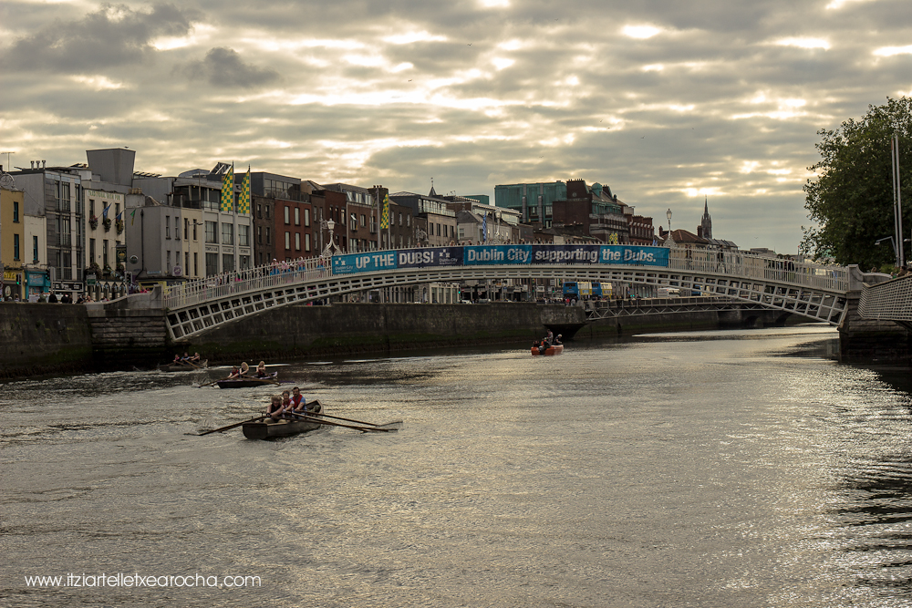 Currach racing on the Liffey. Culture Night 2015