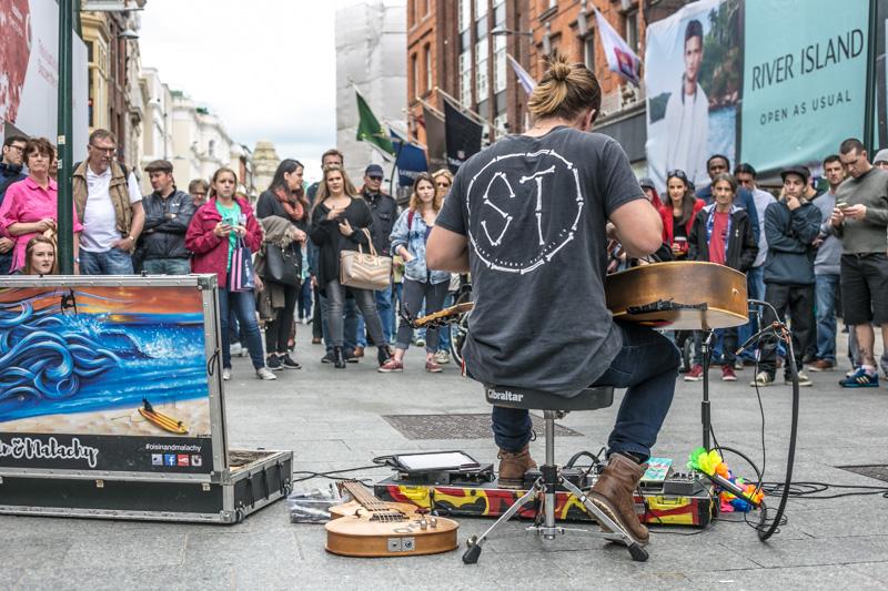 Oisin & Malachy in Grafton Street, Dublin June 2016