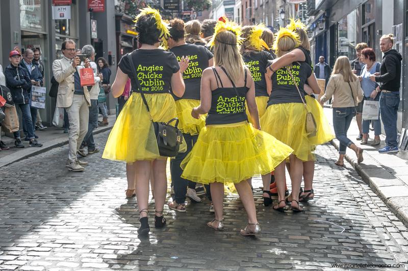 Angies chicks, Temple Bar Dublin, June 2016