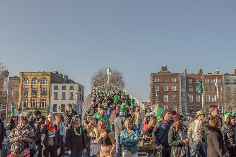 Half Penny Bridge, St Patrick's Festival 2106