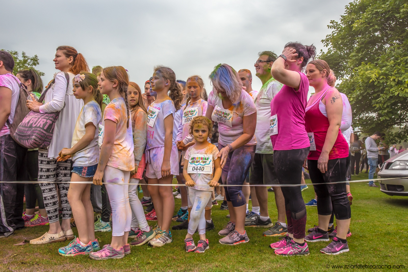 Inflatable Colour Run in Newbridge House, Donabate. Ireland 2017