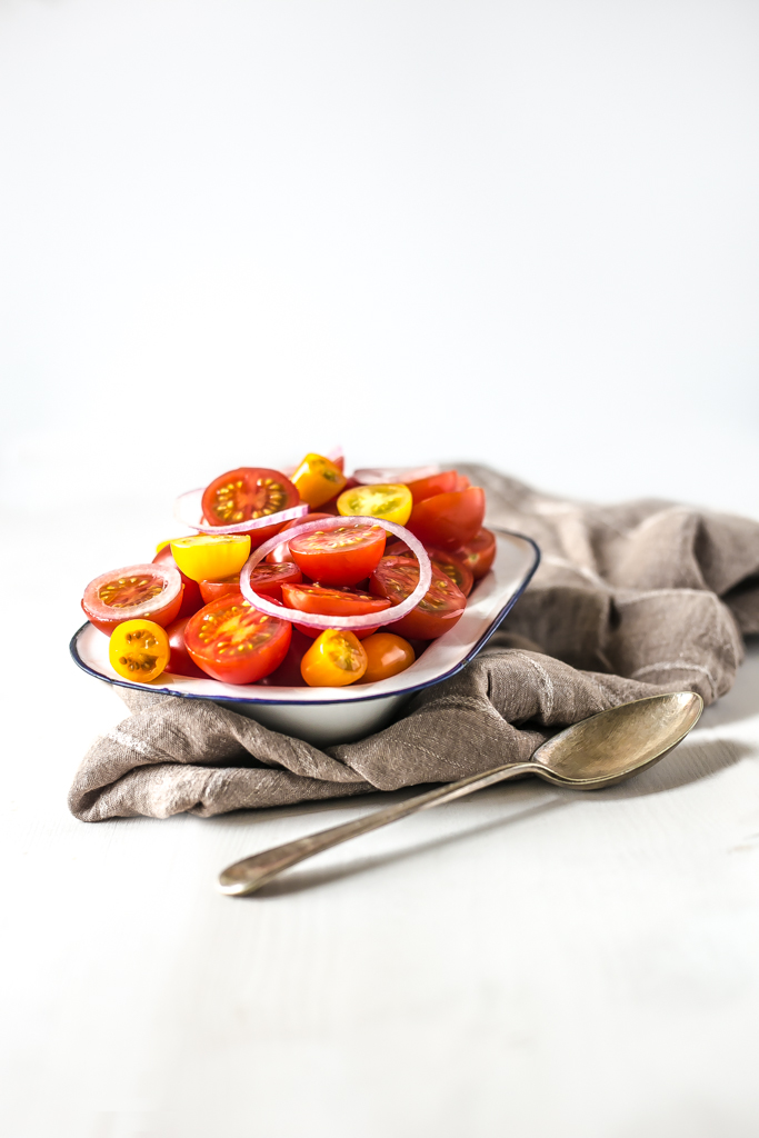 Tomato Salad with red onion Portrait