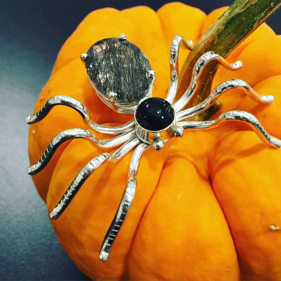 Sterling Silver Spider Pin