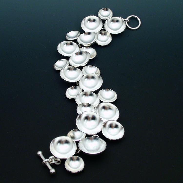 Sterling Silver Dome Bracelet