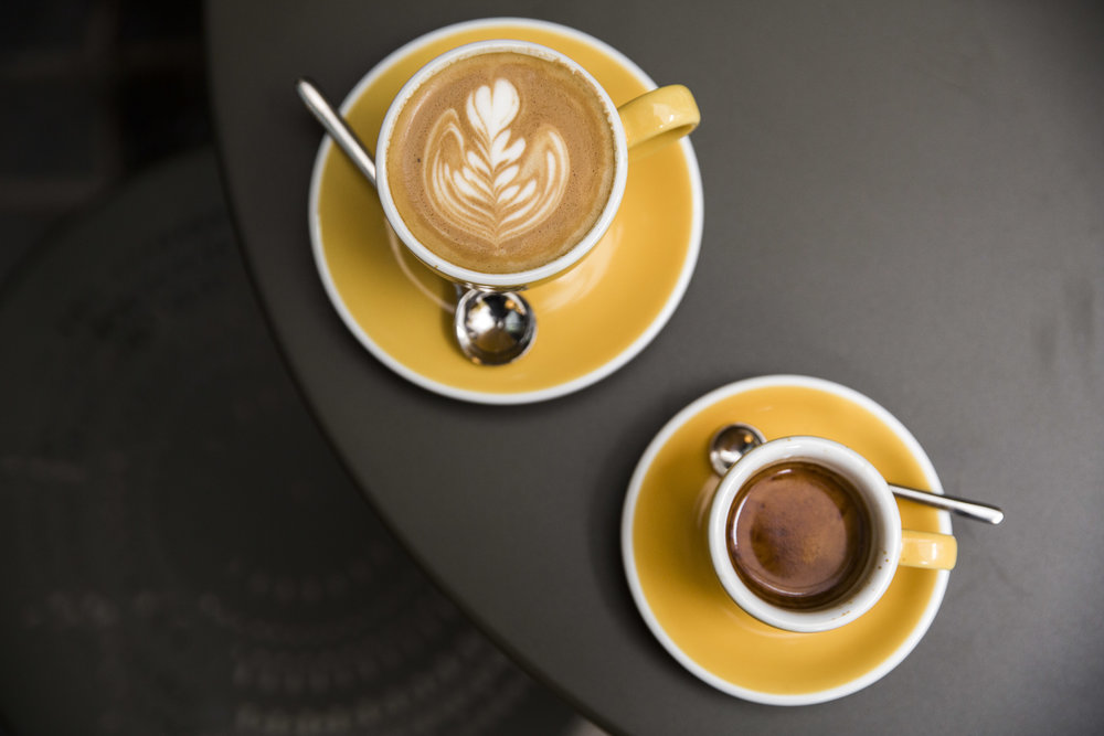 Flat white and espresso at Over Under - Photo:  Charlie McKay
