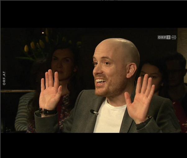 """Lars Amend zu Gast in der Talkshow """"Vera"""" im Österreichischen Fernsehen ORF 2"""