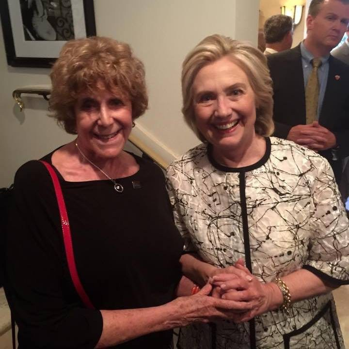 Bonnie Askowitz and Hillary Clinton