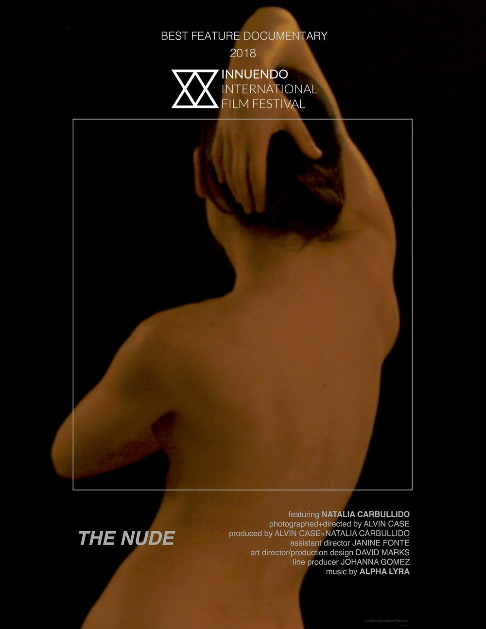 The Nude - An experimental documentary on the making of art and it's inherent emotional demands. The Nude is anchored by a vivid and authentic performance by Natalia Carbullido, an experienced figure art model. Within it's lyrical framework the film argues for the unique expressive art practiced by those who's job it is to offer their own bodies laid bare in the service of Art. Like a dancer, Natalia expresses total control over her body. Aware of every muscle and it's function she uses her training in Aikido and her keen eye for classical form to guide her movements, movements that echo the long history of artists collaborating with models to express the mysteries within the human form.Produced on a micro-budget over eight days, and captured with the AJA Video Cion 4K camera, Unapologetically devoid of genre affectations or polemics, The Nude offers a direct communion between the figure and the camera embracing unbroken moments of time as a way of experiencing the performance required by the model in guiding the eye of the artist.