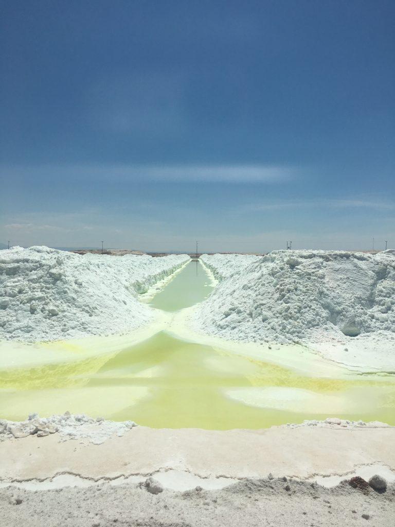 Lithium deposits in the Atacama in Chile. Photo: Orit Halpern.