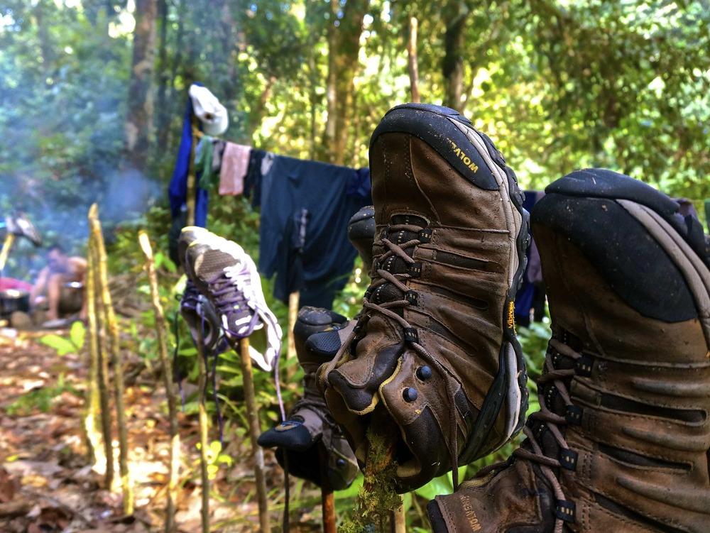 Konstant blöta kläder och skor