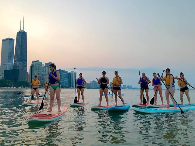 Last call! Monday night 'Chicks With Sticks' is (prolly) our last paddle of the season. 6 PM at Ohio Street Beach followed by Margarita Monday at @caffe_oliva Tag a friend you want to paddle with Monday night.