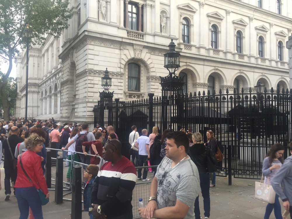 Crowds at Downing Street.