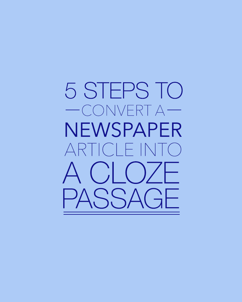 Primary English Tips | 5 Steps to Convert a Newspaper