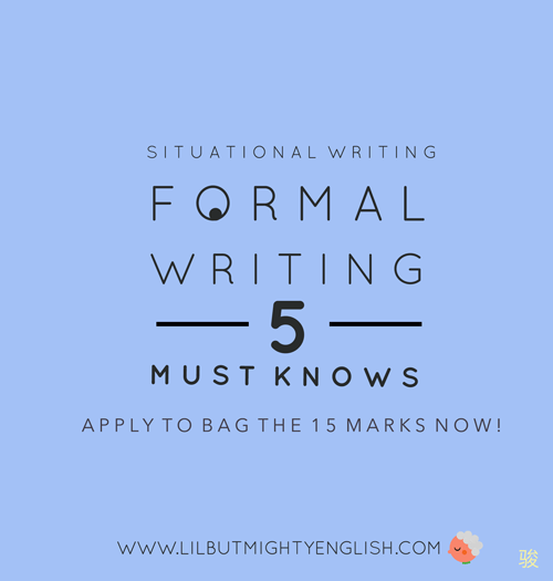 PSLE Situational Writing | Five Essentials to Score for