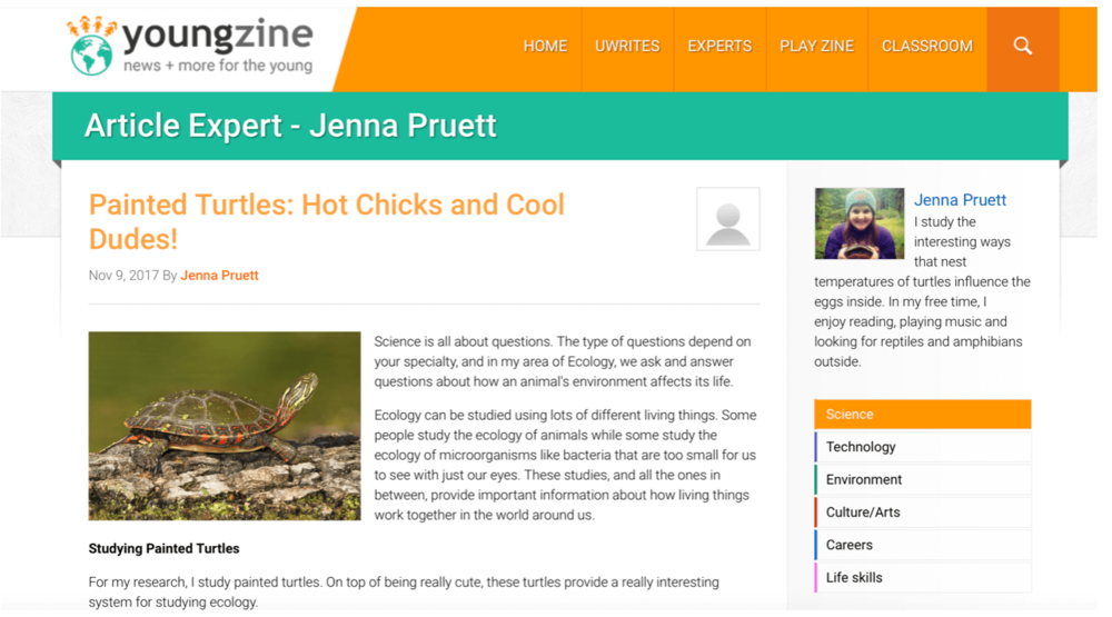 (taken from  https://youngzine.org/article-expert/science/painted-turtles-hot-chicks-and-cool-dudes )