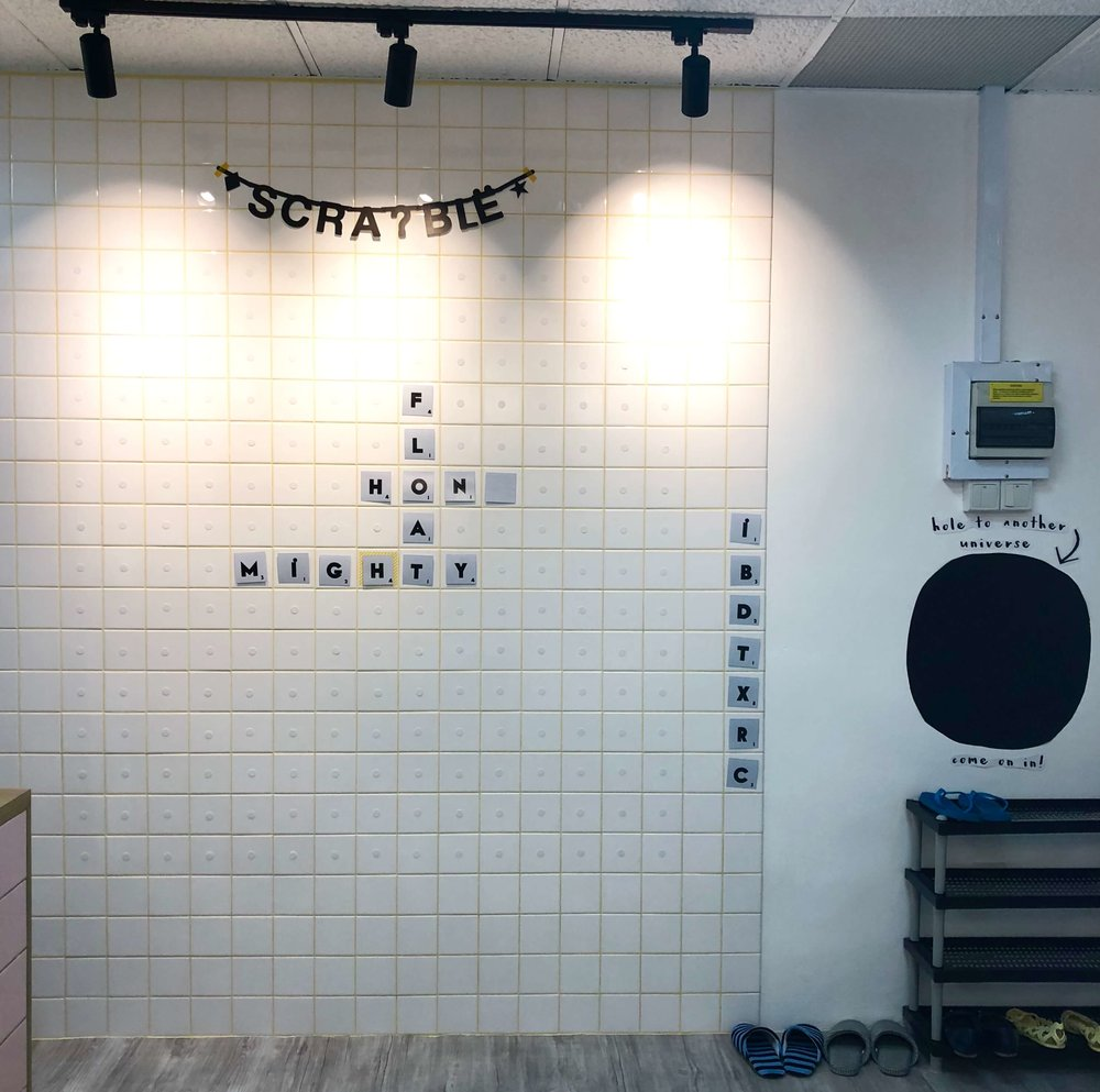 Lil' but Mighty's Scrabble Wall - Interactive Classroom Display