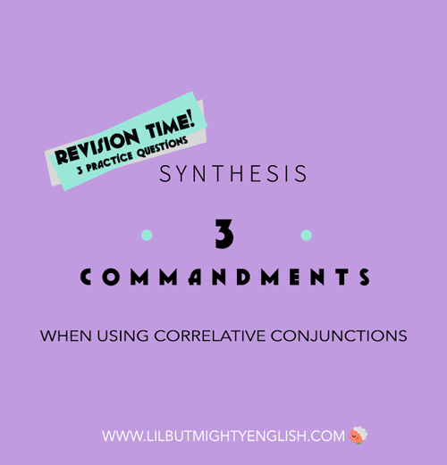 Conquering Correlative Conjunctions in Synthesis: 3 Commandments to Comply with